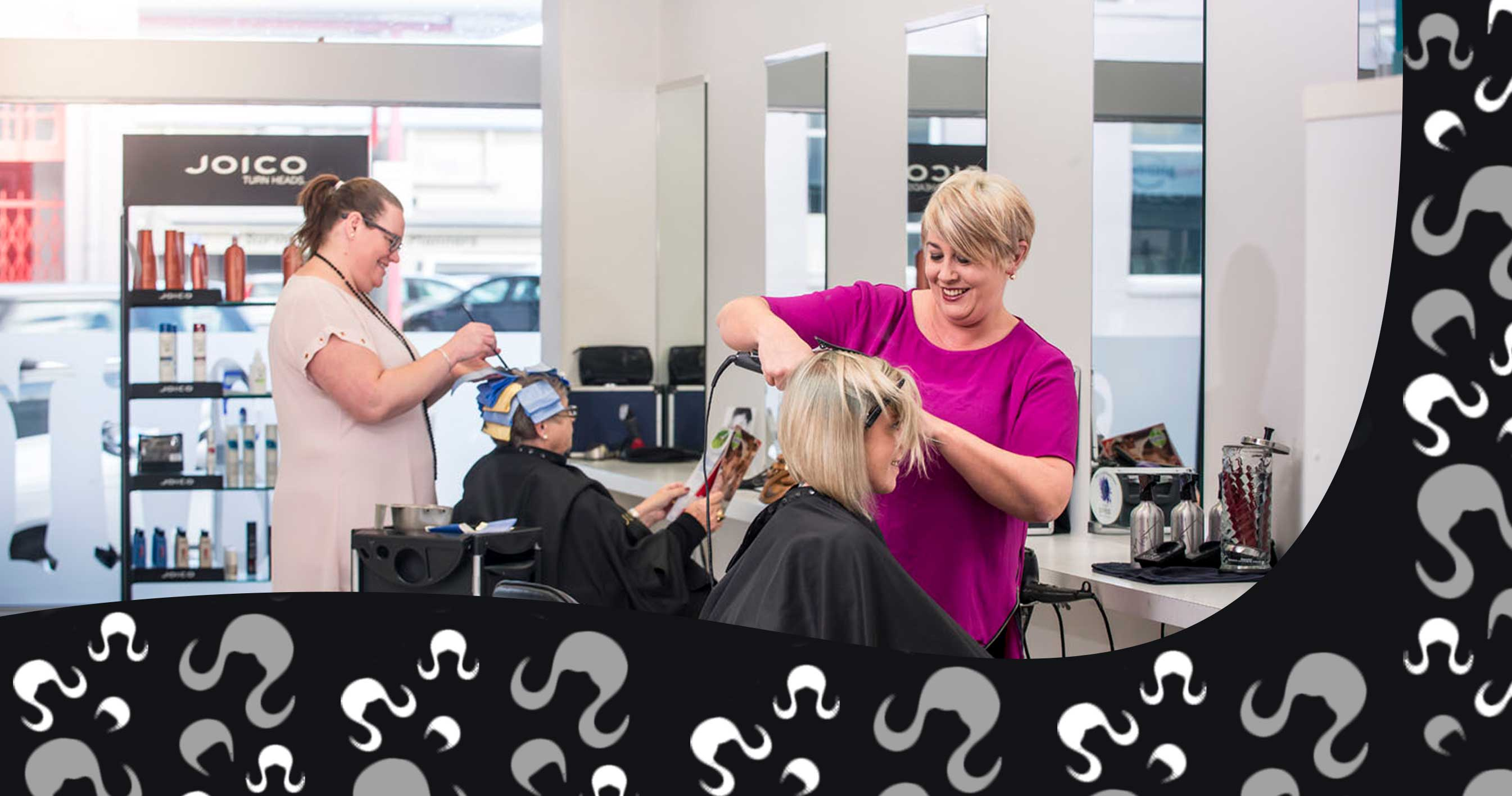Image of Stylists at work in Michelles Hair Studio in Masterton